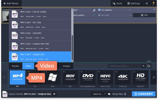 Step 3 - How to compress a video for YouTube