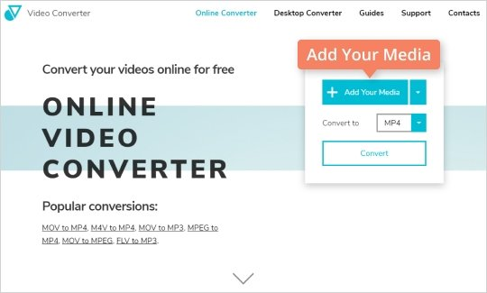 Step 2 - How to convert video to MP4 online