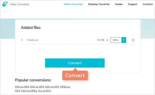 Step 3 - How to convert video to MP4 online
