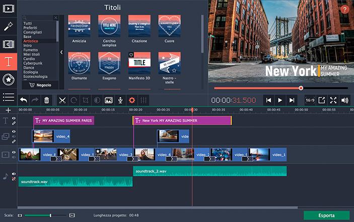 Movavi video editor software per il video editing for Software per rendering
